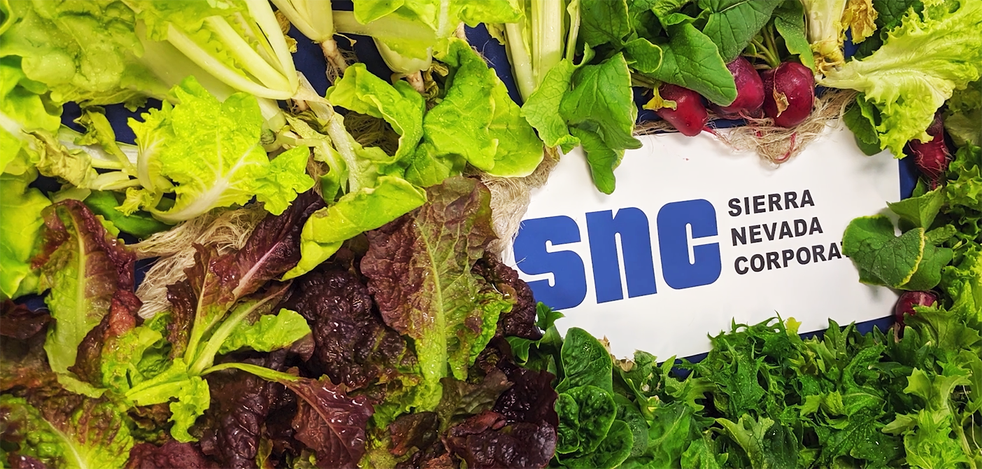 Astronauts have been relying on and utilizing SNC technologies to grow lettuce, Chinese cabbage and ornamental Zinnia flowers