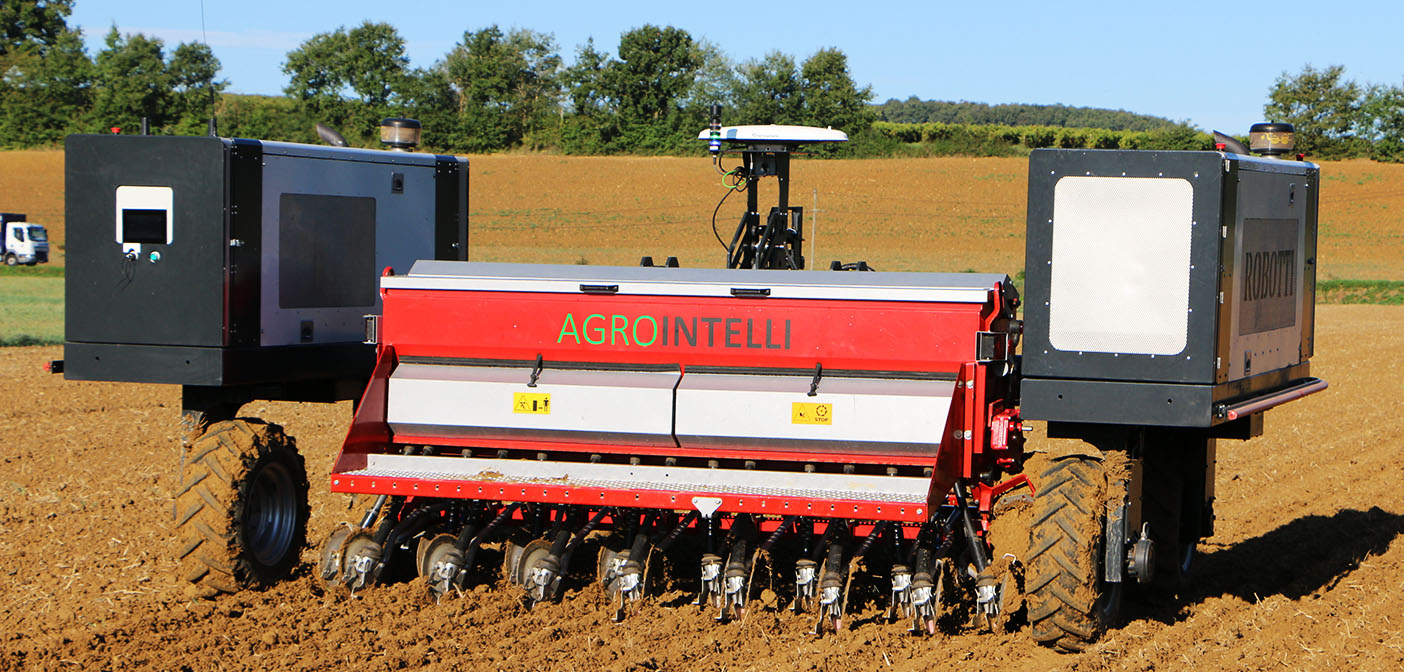 Robotic seed sowing (Image source: Agrointelli)