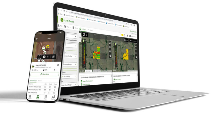 The new, look, feel and navigation of the John Deere Operations Center makes it easier to use and provides a more consistent user experience with the mobile version (MyOperations has been renamed Operations Center mobile, the mobile version of John Deere's flagship digital product).