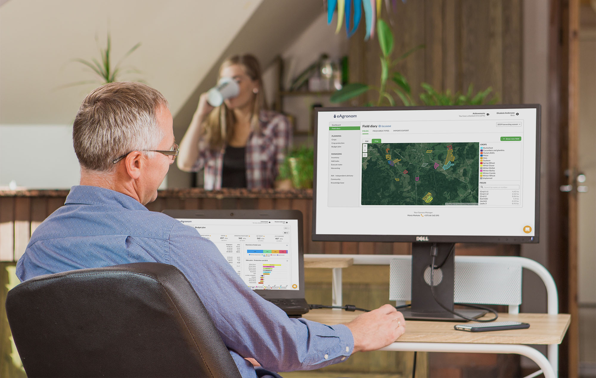 A complete cloud-based farm management platform for grain growers and agronomists
