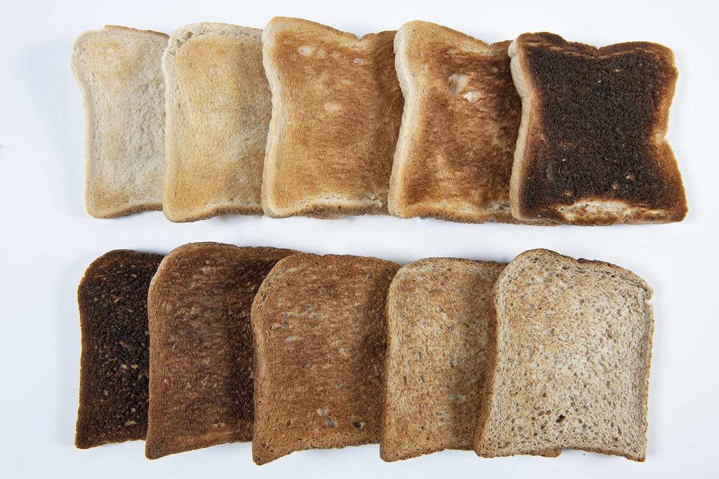 Acrylamide forms during bread baking and its presence is further increased when bread is toasted.